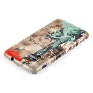 Cadorabo - Hard Cover für LG Google Nexus 5 - Case Cover Schutzhülle Bumper im Design: NEW YORK - FREIHEITSSTATUE - Vorschau 2