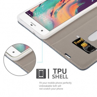 Cadorabo Hülle für HTC Desire 10 PRO in DUNKEL BLAU SCHWARZ - Handyhülle mit Magnetverschluss, Standfunktion und Kartenfach - Case Cover Schutzhülle Etui Tasche Book Klapp Style - Vorschau 2