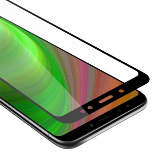 Cadorabo Vollbild Panzer Folie für Xiaomi RedMi NOTE 5 - Schutzfolie in TRANSPARENT mit SCHWARZ - Gehärtetes (Tempered) Display-Schutzglas in 9H Härte mit 3D Touch Kompatibilität
