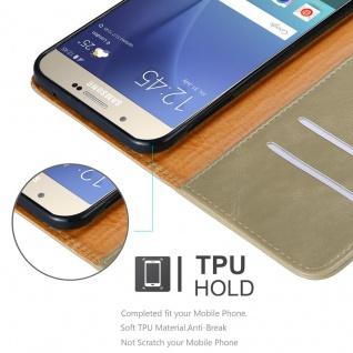 Cadorabo Hülle für Samsung Galaxy A8 2015 in CAPPUCCINO BRAUN - Handyhülle mit Magnetverschluss, Standfunktion und Kartenfach - Case Cover Schutzhülle Etui Tasche Book Klapp Style - Vorschau 3