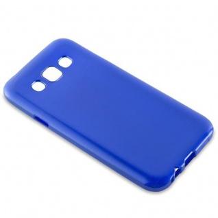 Cadorabo Hülle für Samsung Galaxy E5 2015 in BLAU - Handyhülle aus flexiblem TPU Silikon - Silikonhülle Schutzhülle Ultra Slim Soft Back Cover Case Bumper - Vorschau 2