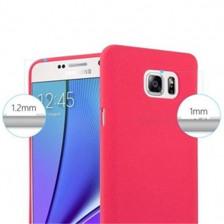Cadorabo Hülle für Samsung Galaxy NOTE 5 in FROST ROT - Handyhülle aus flexiblem TPU Silikon - Silikonhülle Schutzhülle Ultra Slim Soft Back Cover Case Bumper - Vorschau 5