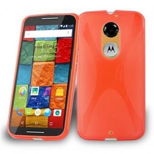 Cadorabo Hülle für Motorola MOTO X (3.Gen.) in INFERNO ROT - Handyhülle aus flexiblem TPU Silikon - Silikonhülle Schutzhülle Ultra Slim Soft Back Cover Case Bumper