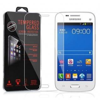 Cadorabo Panzer Folie für Samsung Galaxy TREND 3 - Schutzfolie in KRISTALL KLAR - Gehärtetes (Tempered) Display-Schutzglas in 9H Härte mit 3D Touch Kompatibilität