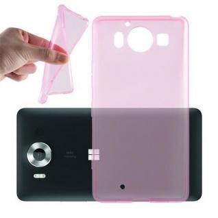 Cadorabo Hülle für Nokia Lumia 950 XL in TRANSPARENT PINK - Handyhülle aus flexiblem TPU Silikon - Silikonhülle Schutzhülle Ultra Slim Soft Back Cover Case Bumper