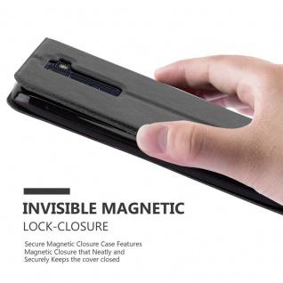 Cadorabo Hülle für LG K8 2016 in KOMETEN SCHWARZ ? Handyhülle mit Magnetverschluss, Standfunktion und 2 Sichtfenstern ? Case Cover Schutzhülle Etui Tasche Book Klapp Style - Vorschau 5