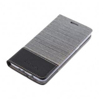 Cadorabo Hülle für Samsung Galaxy J5 2016 in GRAU SCHWARZ - Handyhülle mit Magnetverschluss, Standfunktion und Kartenfach - Case Cover Schutzhülle Etui Tasche Book Klapp Style - Vorschau 3