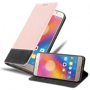 Cadorabo Hülle für Lenovo P2 in ROSÉ GOLD SCHWARZ - Handyhülle mit Magnetverschluss, Standfunktion und Kartenfach - Case Cover Schutzhülle Etui Tasche Book Klapp Style