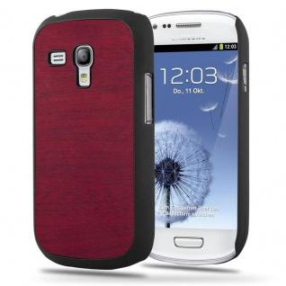 Cadorabo Hülle für Samsung Galaxy S3 MINI in WOODY ROT - Hardcase Handyhülle aus Plastik gegen Kratzer und Stöße - Schutzhülle Bumper Ultra Slim Back Case Hard Cover
