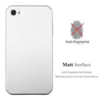 Cadorabo Hülle für Apple iPhone 4 / iPhone 4S in METALL SILBER - Hardcase Handyhülle aus Plastik gegen Kratzer und Stöße - Schutzhülle Bumper Ultra Slim Back Case Hard Cover - Vorschau 2