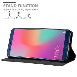 Cadorabo Hülle für Honor 10 VIEW in NACHT SCHWARZ - Handyhülle mit Magnetverschluss, Standfunktion und Kartenfach - Case Cover Schutzhülle Etui Tasche Book Klapp Style - Vorschau 2