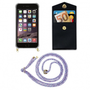 Cadorabo Handy Kette für Apple iPhone 6 PLUS / iPhone 6S PLUS in UNICORN - Silikon Necklace Umhänge Hülle mit Gold Ringen, Kordel Band Schnur und abnehmbarem Etui ? Schutzhülle - Vorschau 5