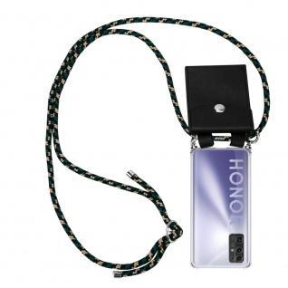 Cadorabo Handy Kette für Honor 30 in CAMOUFLAGE Silikon Necklace Umhänge Hülle mit Silber Ringen, Kordel Band Schnur und abnehmbarem Etui Schutzhülle