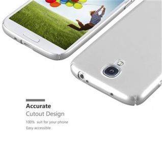Cadorabo Hülle für Samsung Galaxy S4 in METALL SILBER - Hardcase Handyhülle aus Plastik gegen Kratzer und Stöße - Schutzhülle Bumper Ultra Slim Back Case Hard Cover - Vorschau 3