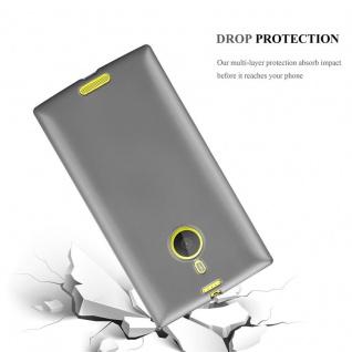 Cadorabo Hülle für Nokia Lumia 1520 in METALLIC GRAU - Handyhülle aus flexiblem TPU Silikon - Silikonhülle Schutzhülle Ultra Slim Soft Back Cover Case Bumper - Vorschau 3