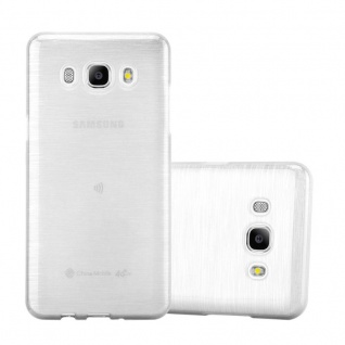 Cadorabo Hülle für Samsung Galaxy J7 2016 in SILBER - Handyhülle aus flexiblem TPU Silikon - Silikonhülle Schutzhülle Ultra Slim Soft Back Cover Case Bumper