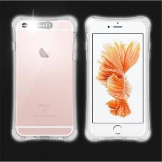 Cadorabo Hülle für Apple iPhone 6 / iPhone 6S - Hülle in STAR TRANSPARENT ? Handyhülle aus TPU Silikon im LED-Blitzlicht-Design - Ultra Slim Soft Backcover Case Bumper