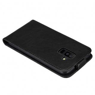 Cadorabo Hülle für Samsung Galaxy A6 PLUS 2018 in NACHT SCHWARZ - Handyhülle im Flip Design mit Magnetverschluss - Case Cover Schutzhülle Etui Tasche Book Klapp Style - Vorschau 5