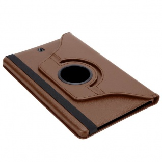 """"""" Cadorabo Tablet Hülle für Samsung Galaxy Tab S2 (8, 0"""" Zoll) SM-T715N / T719N in PILZ BRAUN ? Book Style Schutzhülle OHNE Auto Wake Up mit Standfunktion und Gummiband Verschluss"""" - Vorschau 5"""