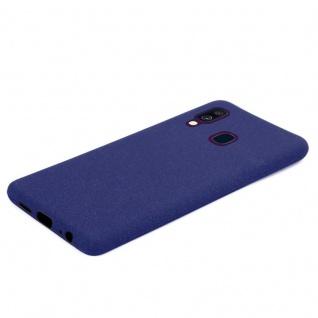 Cadorabo Hülle für Samsung Galaxy A40 in FROST DUNKEL BLAU - Handyhülle aus flexiblem TPU Silikon - Silikonhülle Schutzhülle Ultra Slim Soft Back Cover Case Bumper - Vorschau 5