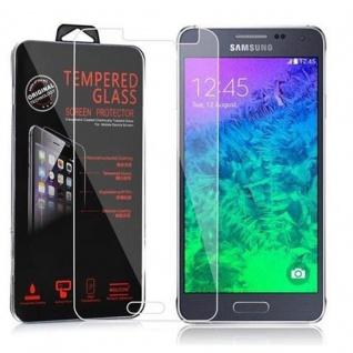 Cadorabo Panzer Folie für Samsung Galaxy ALPHA - Schutzfolie in KRISTALL KLAR - Gehärtetes (Tempered) Display-Schutzglas in 9H Härte mit 3D Touch Kompatibilität