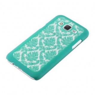 Samsung Galaxy J5 2015 Hardcase Hülle in GRÜN von Cadorabo - Blumen Paisley Henna Design Schutzhülle ? Handyhülle Bumper Back Case Cover - Vorschau 3
