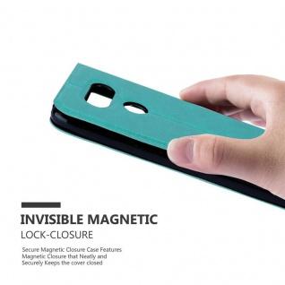 Cadorabo Hülle für LG G5 in MINT TÜRKIS - Handyhülle mit Magnetverschluss, Standfunktion und 2 Sichtfenstern - Case Cover Schutzhülle Etui Tasche Book Klapp Style - Vorschau 5