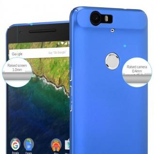 Cadorabo Hülle für Huawei NEXUS 6P in METALL BLAU ? Hardcase Handyhülle aus Plastik gegen Kratzer und Stöße ? Schutzhülle Bumper Ultra Slim Back Case Hard Cover - Vorschau 4