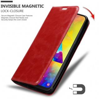 Cadorabo Hülle für Samsung Galaxy M20 in APFEL ROT - Handyhülle mit Magnetverschluss, Standfunktion und Kartenfach - Case Cover Schutzhülle Etui Tasche Book Klapp Style - Vorschau 2