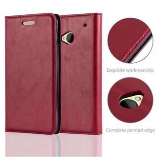 Cadorabo Hülle für HTC ONE M7 (1.Generation) in APFEL ROT - Handyhülle mit Magnetverschluss, Standfunktion und Kartenfach - Case Cover Schutzhülle Etui Tasche Book Klapp Style - Vorschau 2