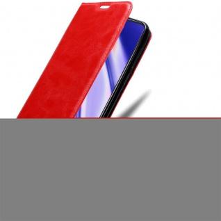 Cadorabo Hülle für Vivo V11i in APFEL ROT Handyhülle mit Magnetverschluss, Standfunktion und Kartenfach Case Cover Schutzhülle Etui Tasche Book Klapp Style