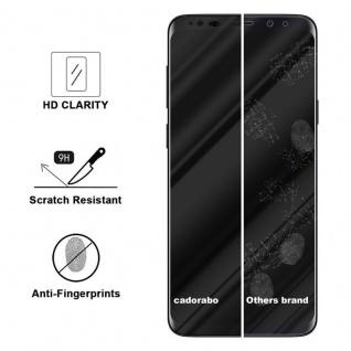 Cadorabo Vollbild Panzer Folie für Samsung Galaxy S9 PLUS - Schutzfolie in TRANSPARENT mit SCHWARZ - Gehärtetes (Tempered) Display-Schutzglas in 9H Härte mit 3D Touch Kompatibilität - Vorschau 3