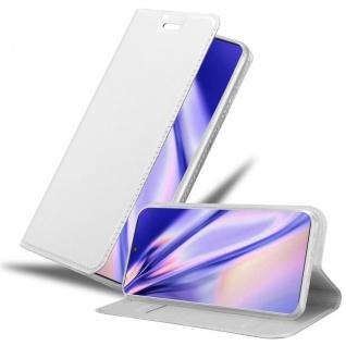 Cadorabo Hülle für Samsung Galaxy NOTE 10 PLUS in CLASSY SILBER Handyhülle mit Magnetverschluss, Standfunktion und Kartenfach Case Cover Schutzhülle Etui Tasche Book Klapp Style