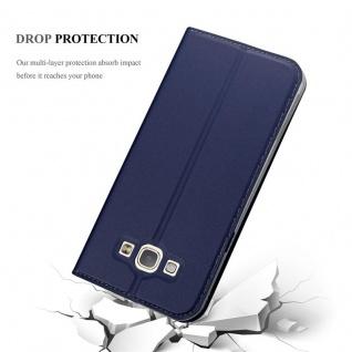 Cadorabo Hülle für Samsung Galaxy A8 2015 in CLASSY DUNKEL BLAU - Handyhülle mit Magnetverschluss, Standfunktion und Kartenfach - Case Cover Schutzhülle Etui Tasche Book Klapp Style - Vorschau 5