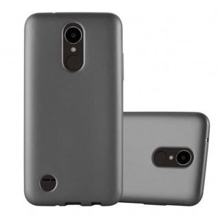 Cadorabo Hülle für LG K4 2017 in METALLIC GRAU - Handyhülle aus flexiblem TPU Silikon - Silikonhülle Schutzhülle Ultra Slim Soft Back Cover Case Bumper