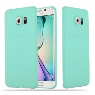 Cadorabo Hülle für Samsung Galaxy S6 EDGE in CANDY BLAU - Handyhülle aus flexiblem TPU Silikon - Silikonhülle Schutzhülle Ultra Slim Soft Back Cover Case Bumper