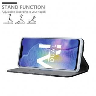 Cadorabo Hülle für Huawei MATE 20 PRO in GRAU SCHWARZ - Handyhülle mit Magnetverschluss, Standfunktion und Kartenfach - Case Cover Schutzhülle Etui Tasche Book Klapp Style - Vorschau 4