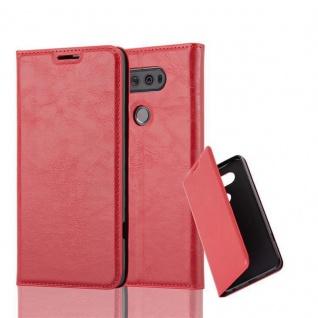 Cadorabo Hülle für LG V20 in APFEL ROT Handyhülle mit Magnetverschluss, Standfunktion und Kartenfach Case Cover Schutzhülle Etui Tasche Book Klapp Style - Vorschau 1