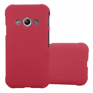 Cadorabo Hülle für Samsung Galaxy XCover 3 in FROSTY ROT - Hardcase Handyhülle aus Plastik gegen Kratzer und Stöße - Schutzhülle Bumper Ultra Slim Back Case Hard Cover