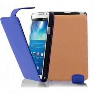 Cadorabo Hülle für Samsung Galaxy NOTE 3 - Hülle in BRILLIANT BLAU ? Handyhülle aus glattem Kunstleder im Flip Design - Case Cover Schutzhülle Etui Tasche