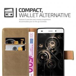 Cadorabo Hülle für Huawei P8 LITE 2015 in CAPPUCINO BRAUN - Handyhülle mit Magnetverschluss, Standfunktion und Kartenfach - Case Cover Schutzhülle Etui Tasche Book Klapp Style - Vorschau 2