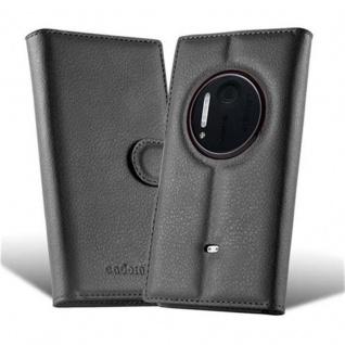Cadorabo Hülle für Nokia Lumia 1020 in PHANTOM SCHWARZ - Handyhülle mit Magnetverschluss, Standfunktion und Kartenfach - Case Cover Schutzhülle Etui Tasche Book Klapp Style - Vorschau 5