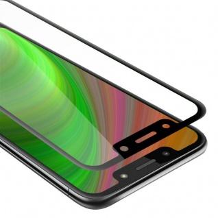 Cadorabo Vollbild Panzer Folie für Motorola MOTO G7 PLAY - Schutzfolie in TRANSPARENT mit SCHWARZ - Gehärtetes (Tempered) Display-Schutzglas in 9H Härte mit 3D Touch Kompatibilität