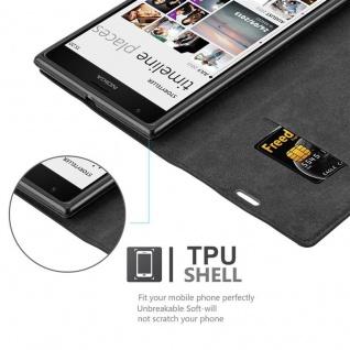 Cadorabo Hülle für Nokia Lumia 1520 in NACHT SCHWARZ - Handyhülle mit Magnetverschluss, Standfunktion und Kartenfach - Case Cover Schutzhülle Etui Tasche Book Klapp Style - Vorschau 2