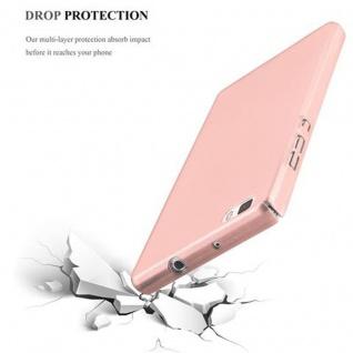 Cadorabo Hülle für Huawei P8 LITE 2015 in METALL ROSE GOLD - Hardcase Handyhülle aus Plastik gegen Kratzer und Stöße - Schutzhülle Bumper Ultra Slim Back Case Hard Cover - Vorschau 5