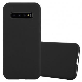 Cadorabo Hülle für Samsung Galaxy S10 in CANDY SCHWARZ - Handyhülle aus flexiblem TPU Silikon - Silikonhülle Schutzhülle Ultra Slim Soft Back Cover Case Bumper