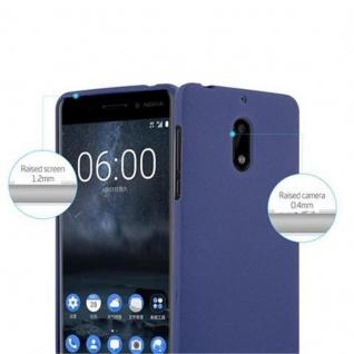 Cadorabo Hülle für Nokia 6 2017 in FROST DUNKEL BLAU - Handyhülle aus flexiblem TPU Silikon - Silikonhülle Schutzhülle Ultra Slim Soft Back Cover Case Bumper - Vorschau 5
