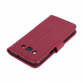 Cadorabo Hülle für Samsung Galaxy A5 2015 in WEIN ROT - Handyhülle mit Magnetverschluss, Standfunktion und Kartenfach - Case Cover Schutzhülle Etui Tasche Book Klapp Style - Vorschau 4