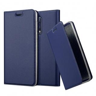 Cadorabo Hülle für Nokia 8 2017 in CLASSY DUNKEL BLAU - Handyhülle mit Magnetverschluss, Standfunktion und Kartenfach - Case Cover Schutzhülle Etui Tasche Book Klapp Style