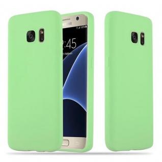 Cadorabo Hülle für Samsung Galaxy S7 in CANDY PASTELL GRÜN - Handyhülle aus flexiblem TPU Silikon - Silikonhülle Schutzhülle Ultra Slim Soft Back Cover Case Bumper